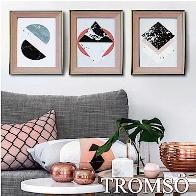 TROMSO北歐格調金屬木紋8X10相框三入組-粉紅時尚