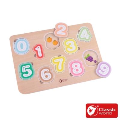 【德國 classic world 客來喜經典木玩】數字筆畫學習板《54433》