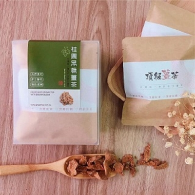 暖暖純手作-黑糖桂圓原片薑茶(4入/盒)