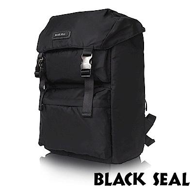 福利品 BLACK SEAL 經典休旅系列 多置物層13吋電腦機能後背包-經典黑