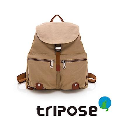 tripose MEMENTO系列微皺尼龍輕量防潑水後背包-大(奶茶駝)