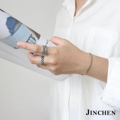 JINCHEN 純銀盒子手鍊