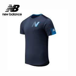 [New Balance]ICE短袖上衣_男性_深藍色_AMT11241EM1