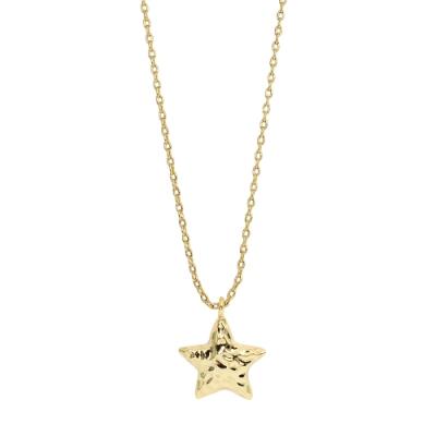 Orelia英國品牌 立體星星金錘造型金色項鍊