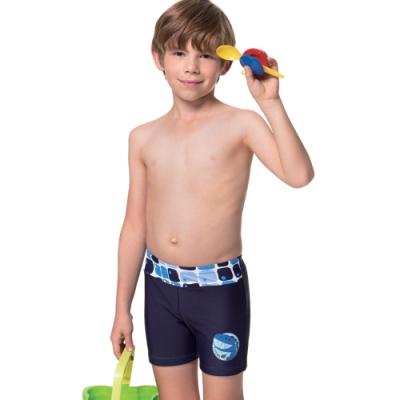 沙兒斯 泳裝 橫腰飾五分男童泳褲