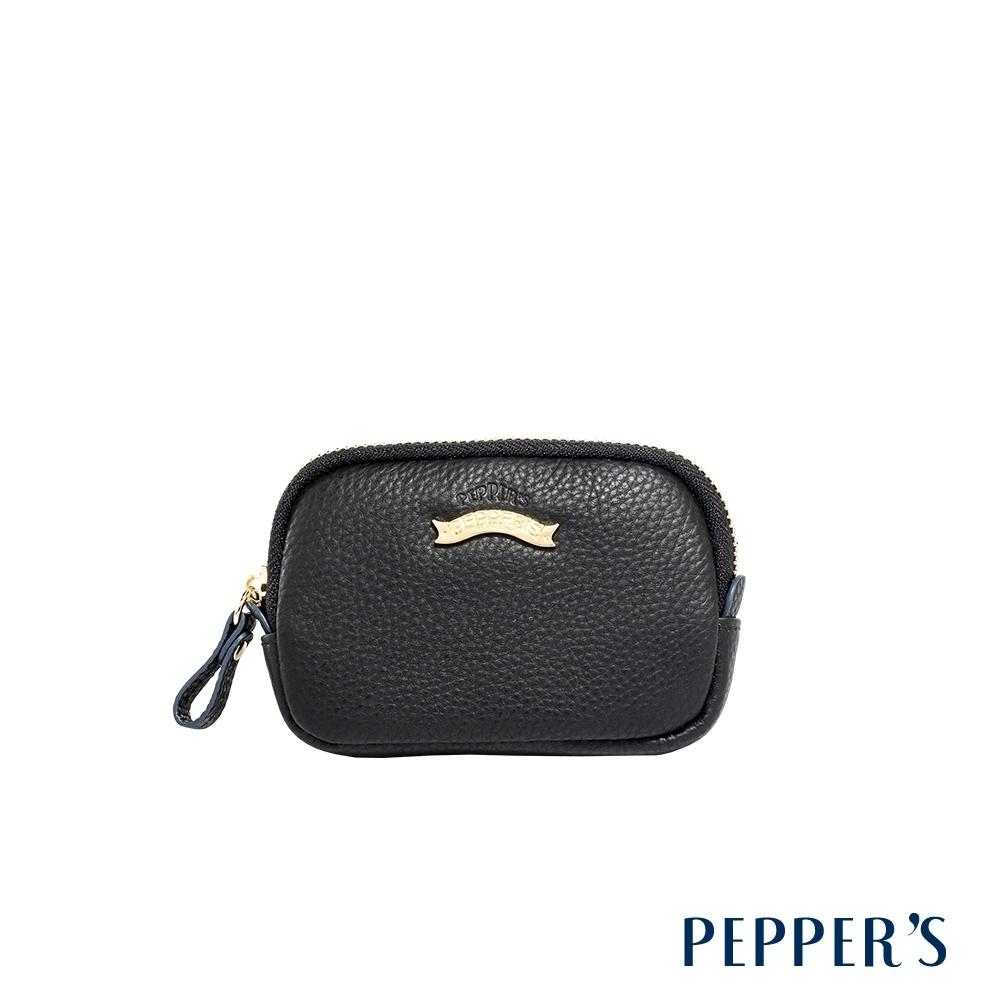 PEPPER'S  Doris 牛皮拉鍊零錢包 - 奶茶棕