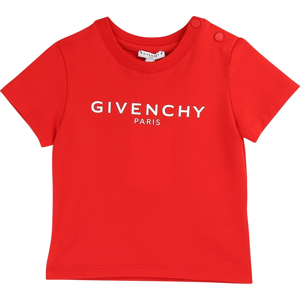 GIVENCHY 紅色Logo上衣 (童)