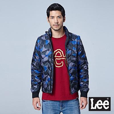 Lee HEAT迷彩印花舖棉外套-男款-藍