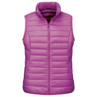 【ATUNAS 歐都納】女款超輕量羽絨保暖背心A-V1515W紫紅