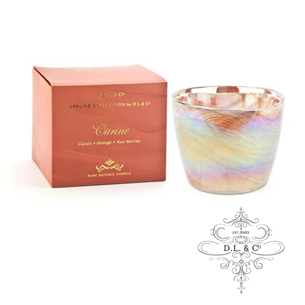 美國 D.L. & CO. 經典乳白光石系列 茶晶 香氛禮盒 340g