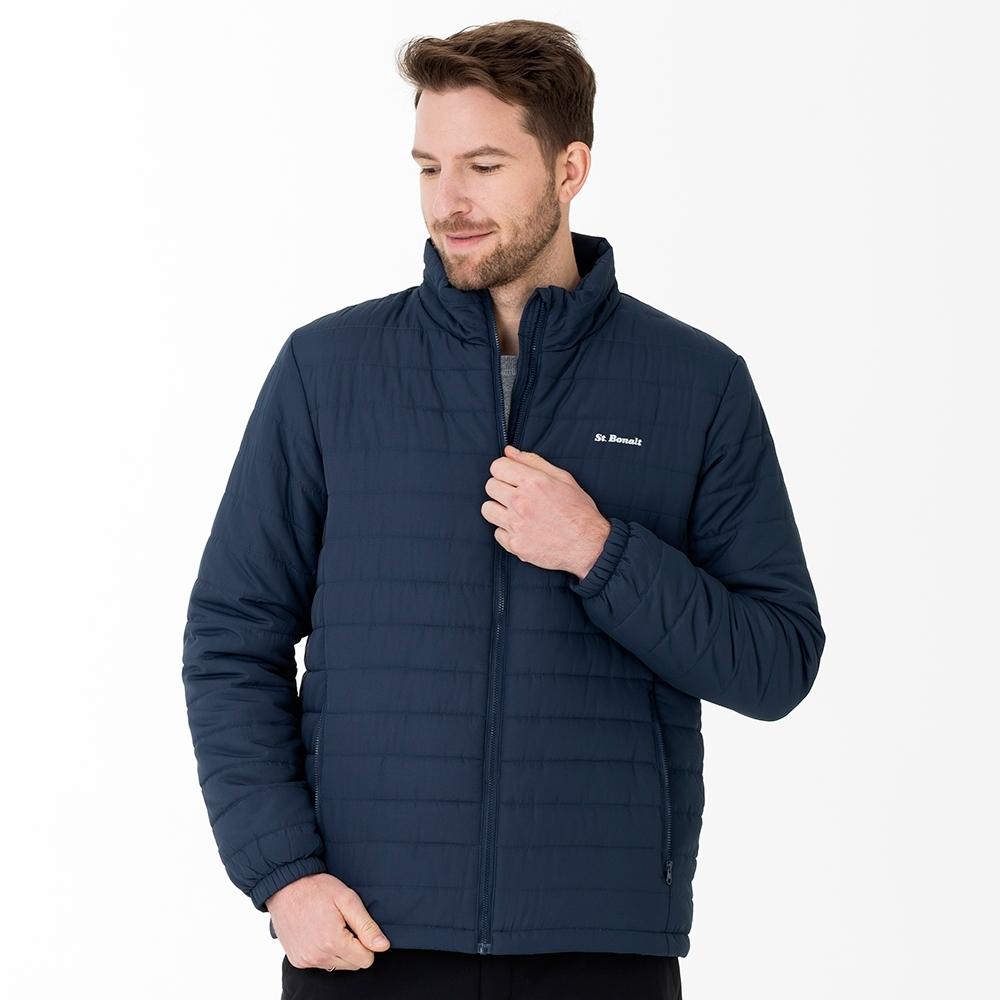 【St. Bonalt 聖伯納】男款立領鋪棉外套 (8208-夜藍) 輕薄 保暖