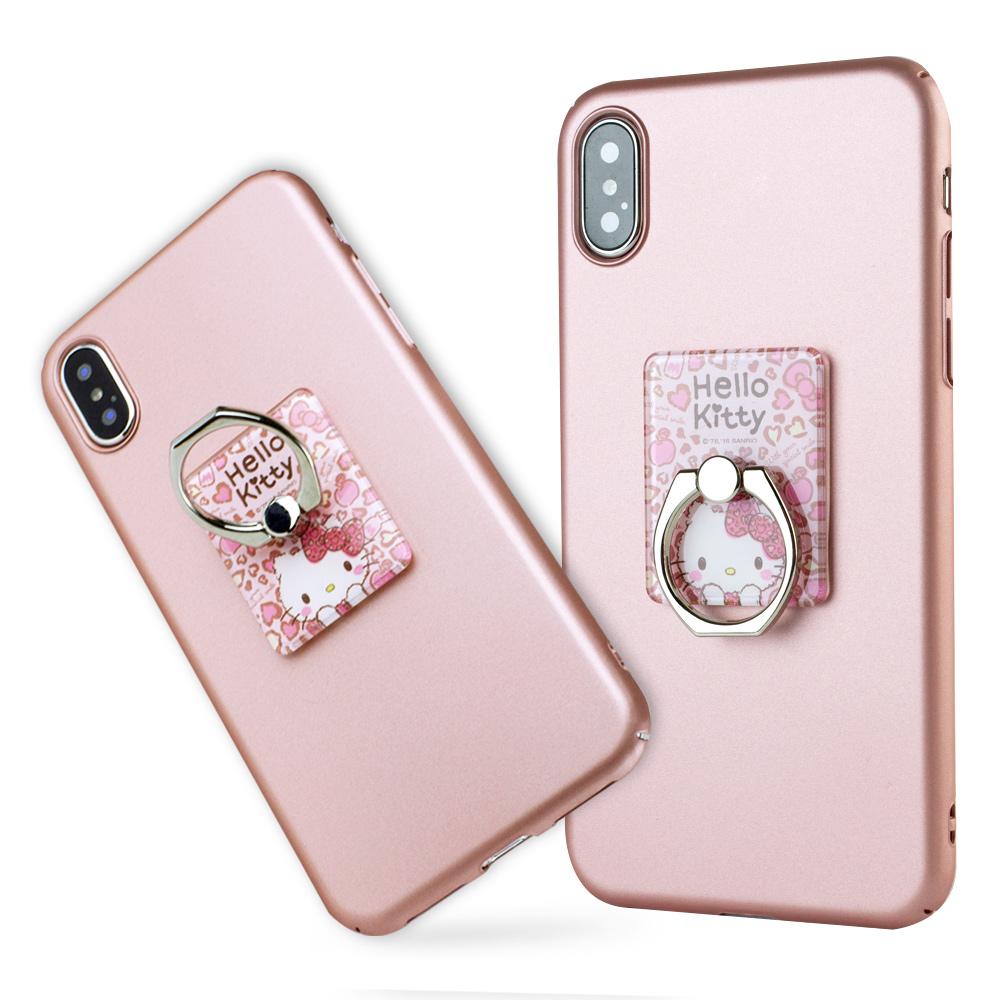 iStyle iPhone X/XS 5.8吋 Hello Kitty 粉色魅力支架手機殼