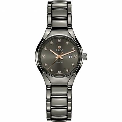 RADO 雷達 True 真系列 高科技陶瓷自動機械女錶-30mm R27243732