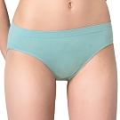 思薇爾 無痕美人系列M-XL素面低腰三角內褲(青煙藍)