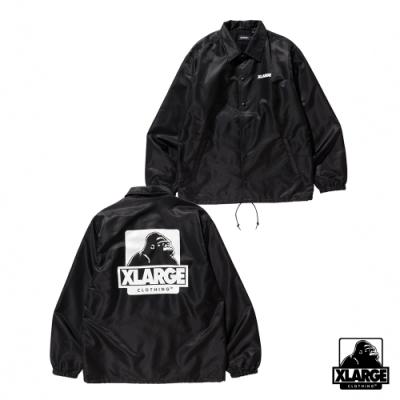XLARGE OG PRINTED COACHES JACKET教練外套-黑