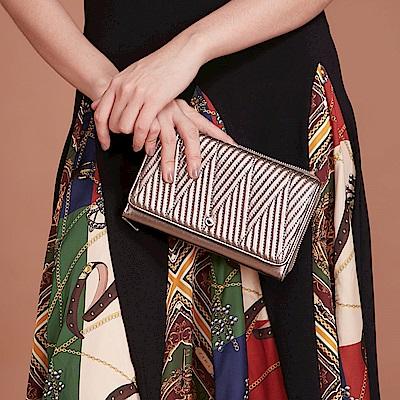 Maria Carla手拿肩背包-羊皮V雙用鏈條包_完美格調、迷漾輕時尚系列(香檳金)