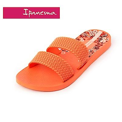 IPANEMA Slide系列 拖鞋-橘色印花