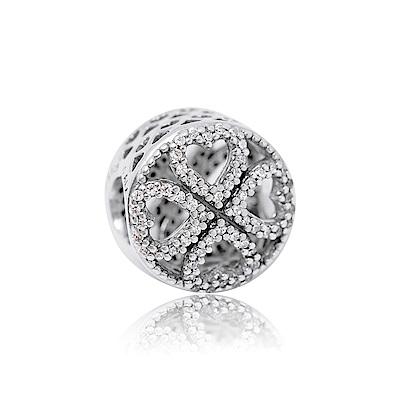 Pandora 潘朵拉 愛之花瓣鑲鋯 純銀墜飾 串珠