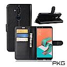 PKG 華碩 Zenfone5Q ZC600KL側翻式-精選皮套-經典款式-黑