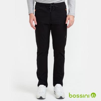 bossini男裝-彈性輕便保暖褲02黑