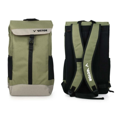 VICTOR 大型後背包-雙肩包 裝備袋 羽球 勝利 BR3020G 軍綠黑