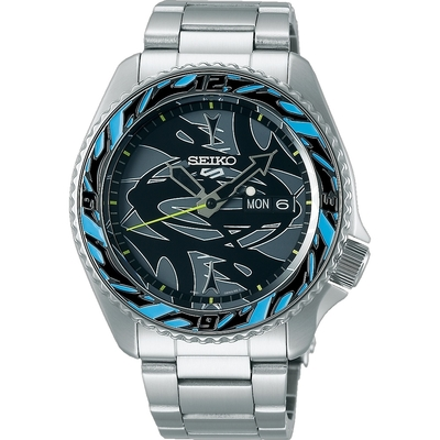 SEIKO 精工 5Sports x GUCCIMAZE 藝術家聯名機械錶 SRPG65K1/4R36-09Y0D限量