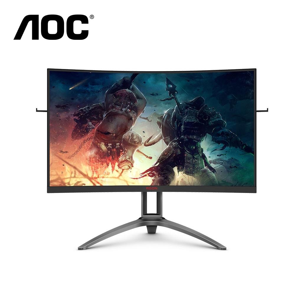 AOC 32型 AG323QCXE 2K曲面HDR電競電腦螢幕 144Hz 1ms極速 內建喇叭