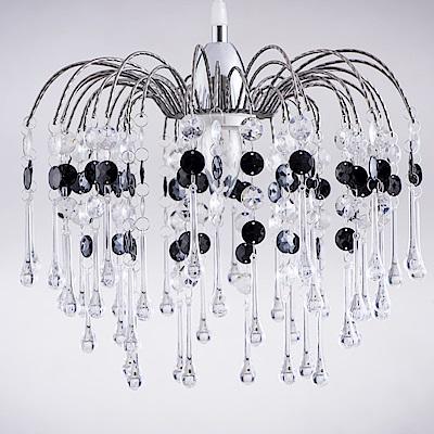 bnatural 鍍鉻噴泉支架黑色壓克力珠吊燈 BNL00042