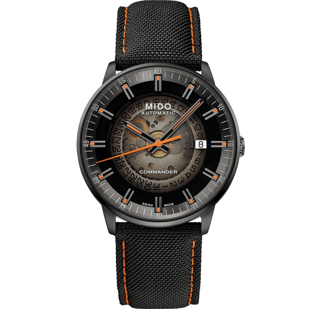 MIDO美度 Commander Gradient香榭系列 煙黑漸層機械腕錶 M0214073741100/40mm