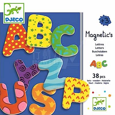 【任選】法國《DJECO-智荷》磁鐵拼圖-英文字母