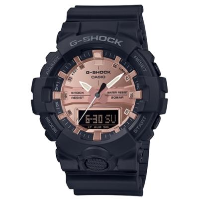 CASIO卡西歐G-SHOCK系列質感手錶GA-800MMC-1A-玫瑰金/48.6mm