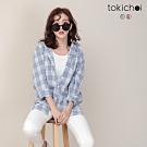 東京著衣 時髦甜心經典格紋長版襯衫/外套-S.M.L(共二色)