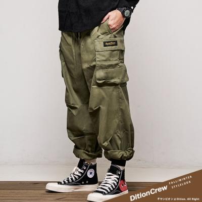 DITION 機能工裝大口袋長褲 錐形3D剪裁寬褲 CAMP工作褲