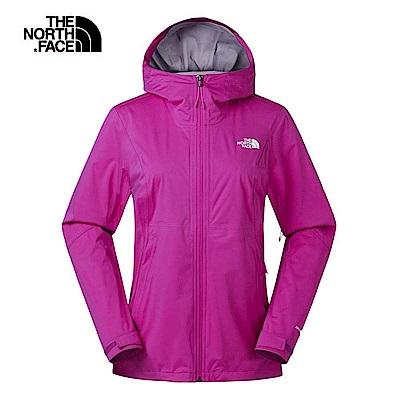 The North Face北面女款粉色防水透氣衝鋒衣|3RL4146