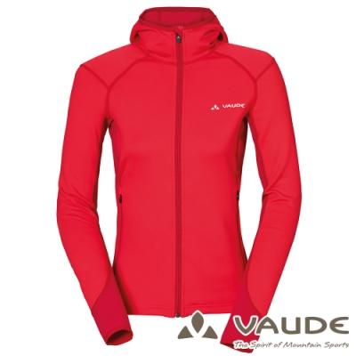 【德國 VAUDE】女款抗風內層刷毛保暖連帽彈性休閒外套VA-05703紅