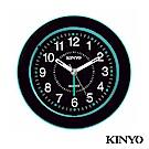 KINYO時尚圓型靜音掃描鬧鐘TB716