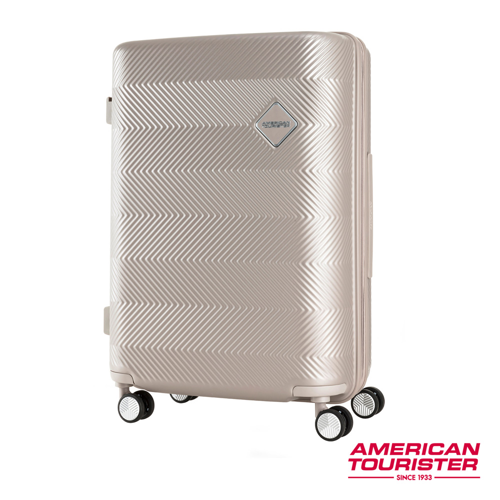 AT美國旅行者 29吋Groovista 霧面耐磨吸震PC硬殼行李箱(霧金)