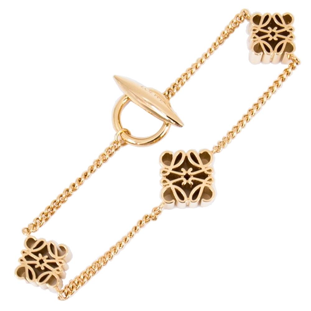 Loewe 經典雕花 手鍊/手鏈 Anagram bracelet in metal