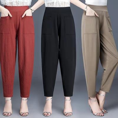 [韓國K.W.] 輕鬆大口袋涼感休閒褲