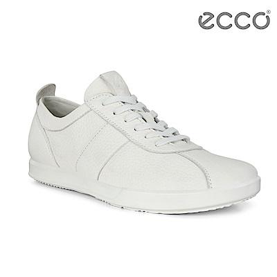 ECCO COLLIN 2.0 精緻復古綁帶休閒鞋 男-白