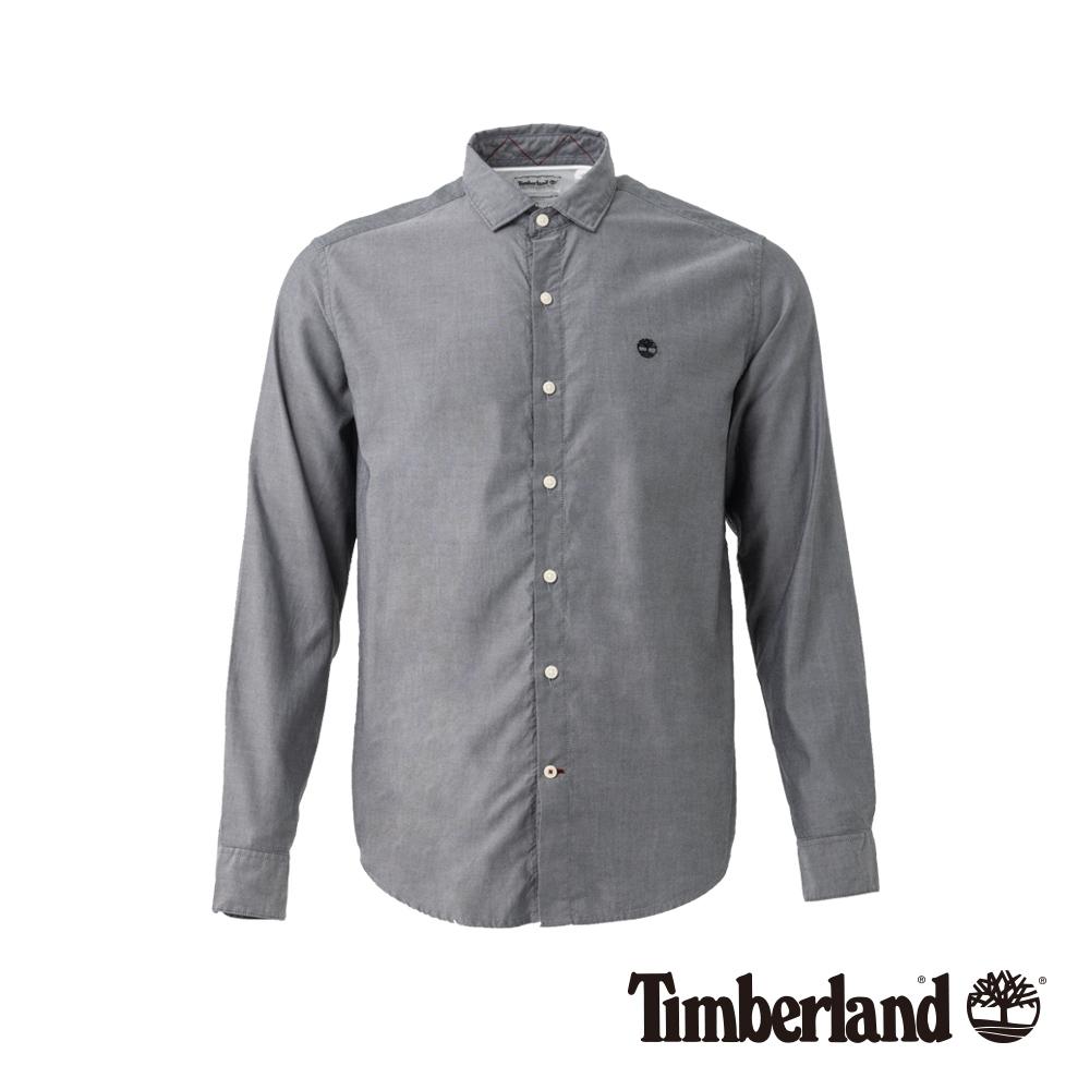 Timberland 男款灰色 Lane River 長袖襯衫 |A1UQ9