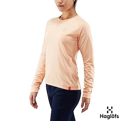 Haglofs 女 Curve 快乾 輕量 保暖長袖圓領衫 雲粉色