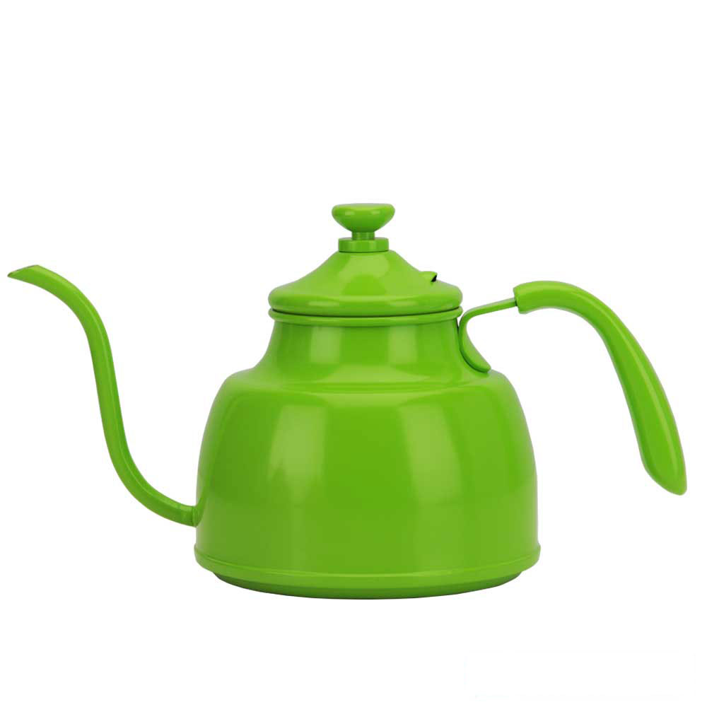 Tiamo 1018A 不鏽鋼細口壺-綠色 1.0L(HA1604GR)
