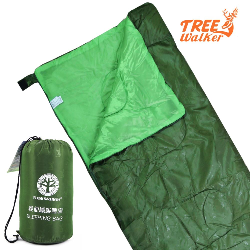TreeWalker 輕便纖維睡袋-軍綠