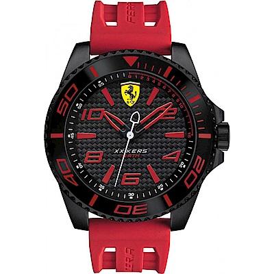 FERRARI 法拉利決定速度運動腕錶/紅/FA0830308