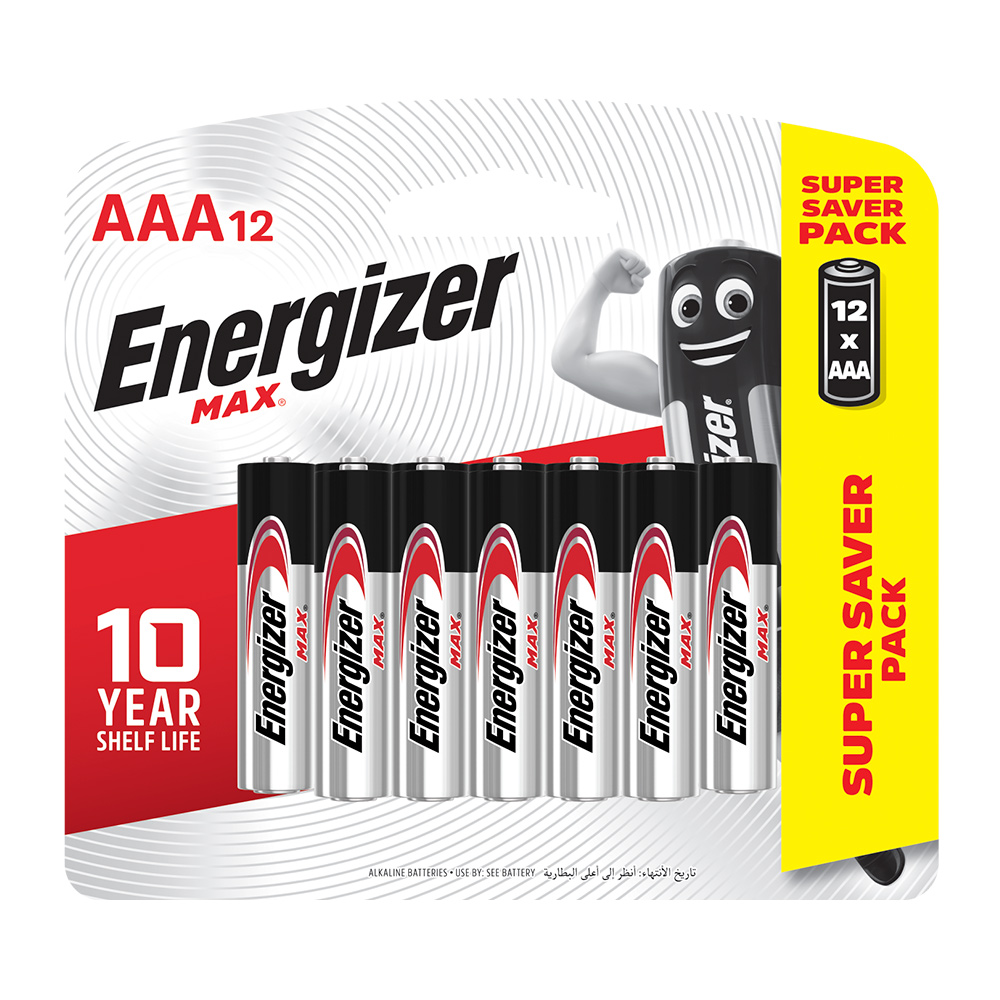 勁量  鹼性電池-4號(AAA) 12入