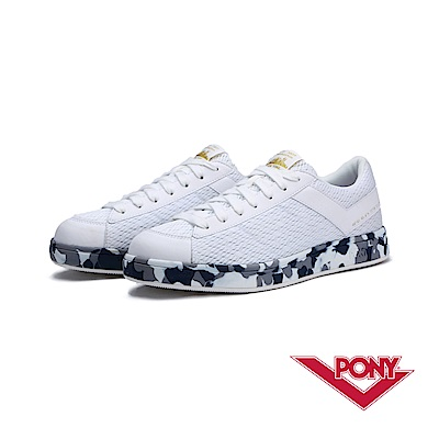 【PONY】PRO EG系列-迷彩風格滑板鞋款-女-白