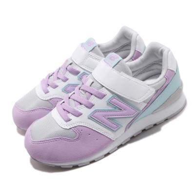 New Balance 休閒鞋 YV996PLQ W 寬楦 運動 童鞋 紐巴倫 輕量 舒適 簡約 魔鬼氈 中童 白 紫 YV996PLQW