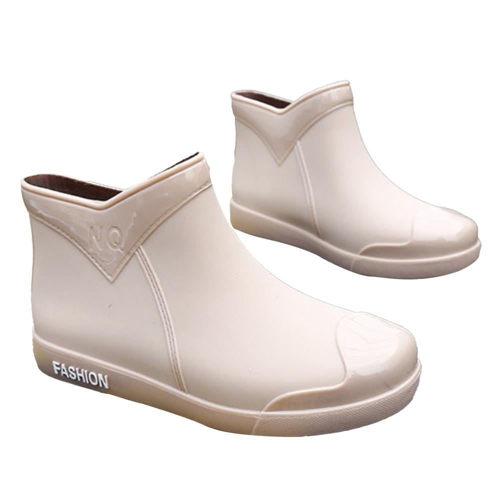 LN 現+預 時尚拼接百搭超軟底防滑雨鞋-2色 product image 1