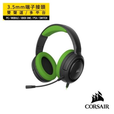 【CORSAIR海盜船】 HS35 STEREO立體聲電競耳機-草綠